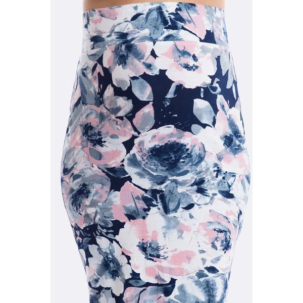 maternity skirt | over the bump | aquarelle