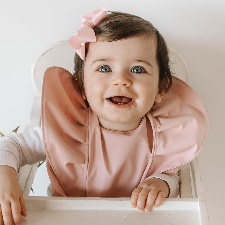 baby waterproof bib | pink - MUMMA + BUBBA COLLECTIVE