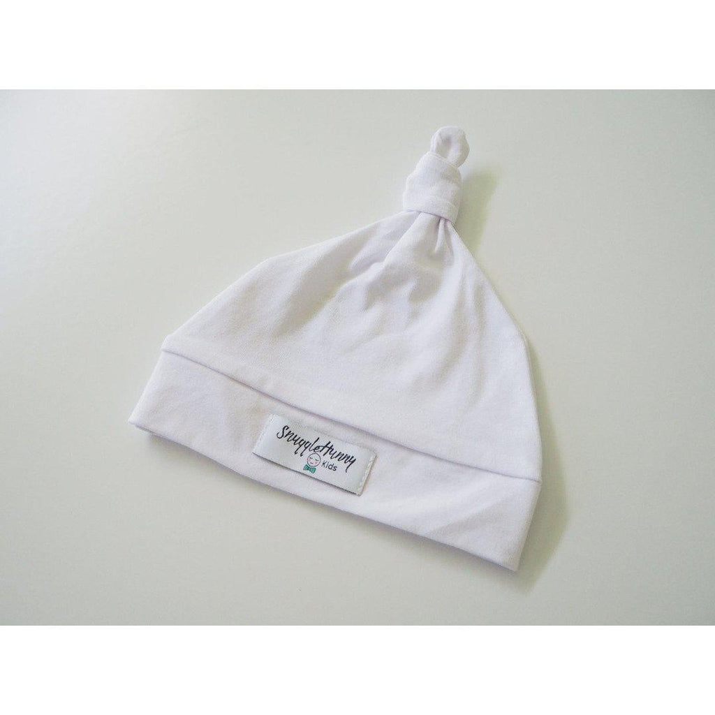 baby knotted beanie | white - Mumma + Bubba Collective.