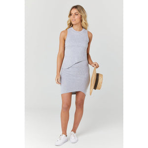 maternity + nursing dress | bellevue | grey marle - MUMMA + BUBBA COLLECTIVE