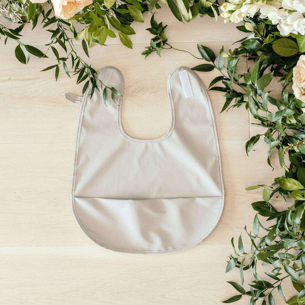 baby waterproof bib | grey - MUMMA + BUBBA COLLECTIVE