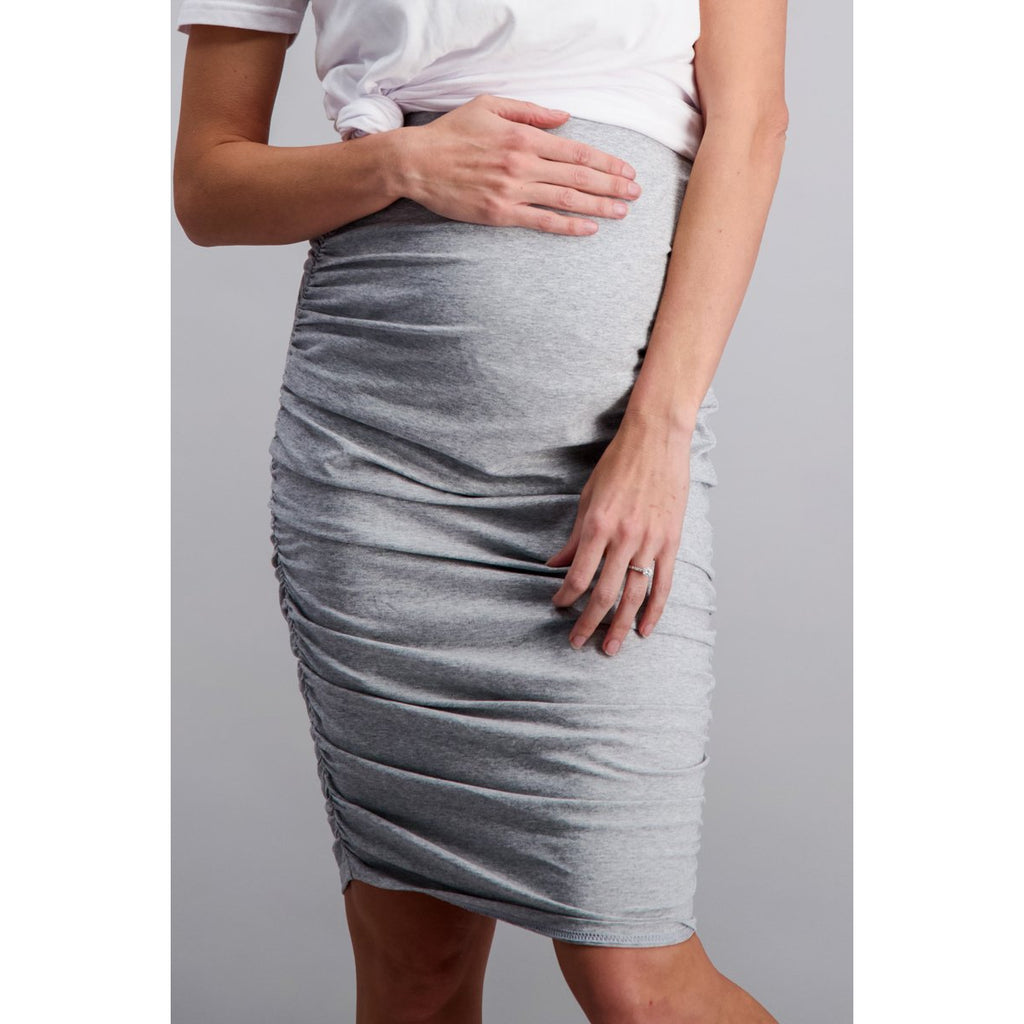 maternity skirt | over the bump | grey - MUMMA + BUBBA COLLECTIVE