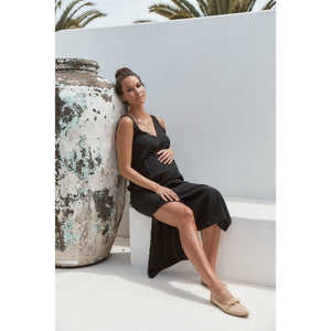 maternity + nursing dress | indie silk dress | black - MUMMA + BUBBA COLLECTIVE