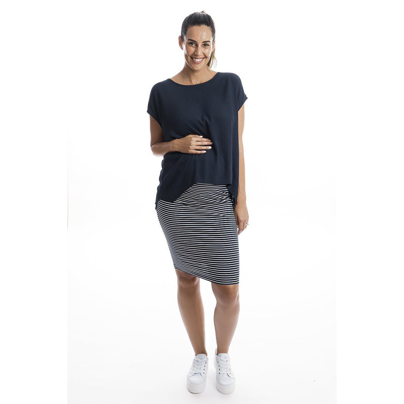 maternity top | boho drape top | navy - MUMMA + BUBBA COLLECTIVE