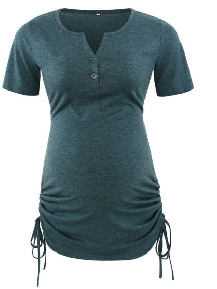 Maternity Classic Side Ruched T-Shirt Tops