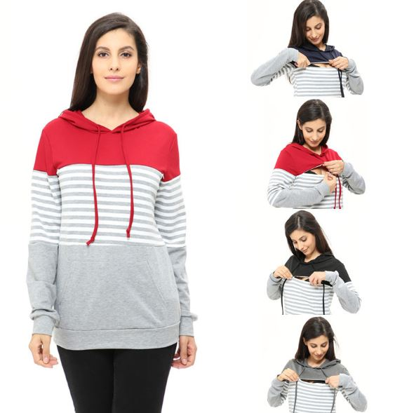 Nursing Sweatshirt Long Sleeves