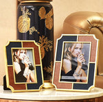 Stitched Leather Metal Photo Frame