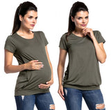 Maternity Ruched Short Sleeve