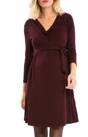 Hooded Midi Maternity Dress