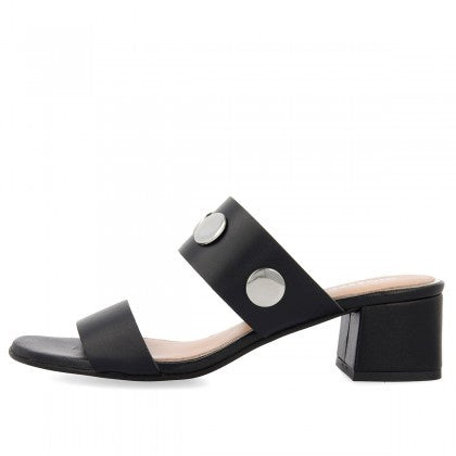 Gioseppo Donnery Mid Heel Sandal Negro with Studs