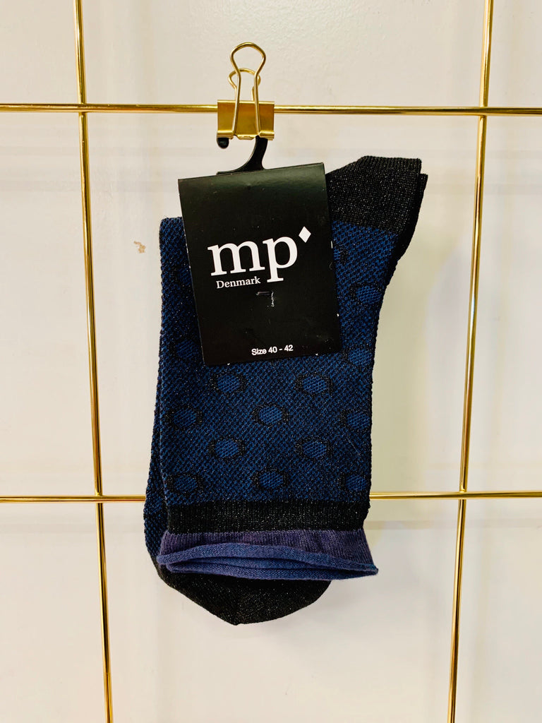 MP Navy Sock with Black Circle