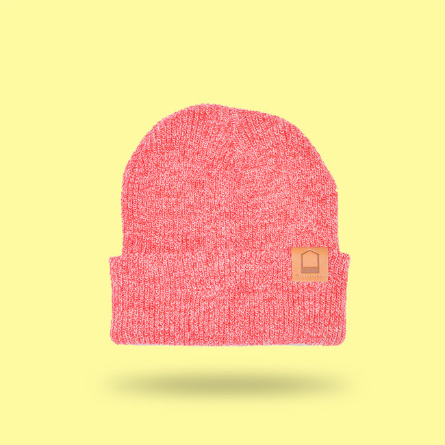 Heather Red Beanie