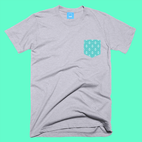 Turquoise anchors tee
