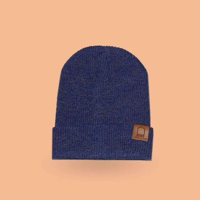 Heather dark blue beanie