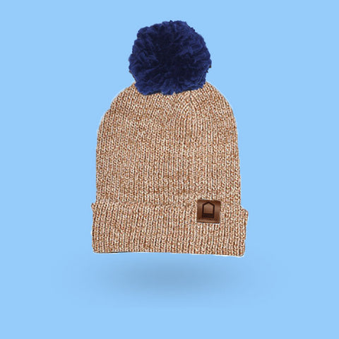 heather light brown beanie