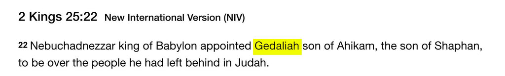 2 Kings 25:22 - Gedaliah