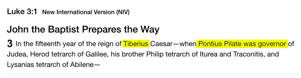 Tiberius and Pontius Pilate - Kanye Says Jesus is King - But Who is Jesus?