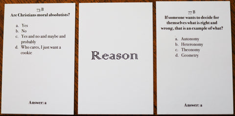 Reason Basic Pack - Christian Card Game - Welcome to Truth