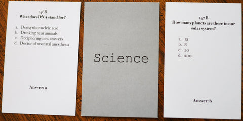 Science Basic Pack - Christian Card Game - Welcome to Truth