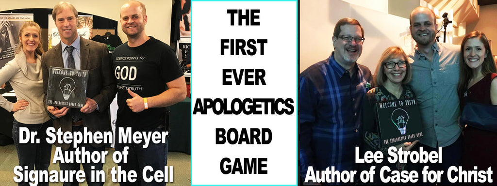 Stephen Meyer and Lee Strobel - Welcome to Truth Board Game