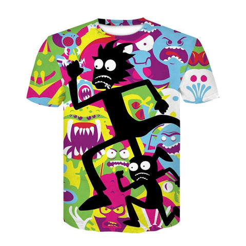 T-Shirt psychedelic 3d Print