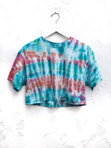 Tie-Dyed Cropped T-Shirt / Watermelon