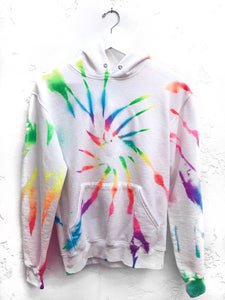 CUSTOM Pocket Hoodie / Neon Rainbow