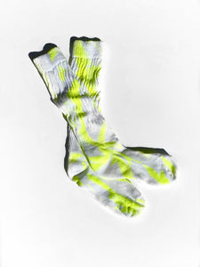 Copy of Tie Dye Socks / Neon Yellow