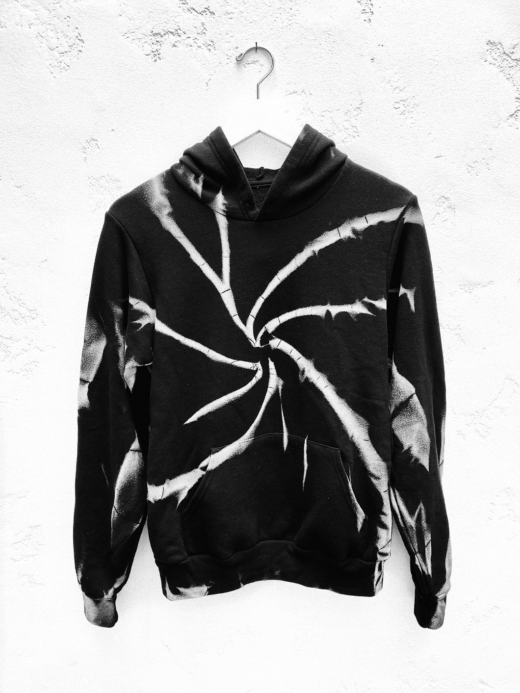 Pocket Hoodie / Black & White
