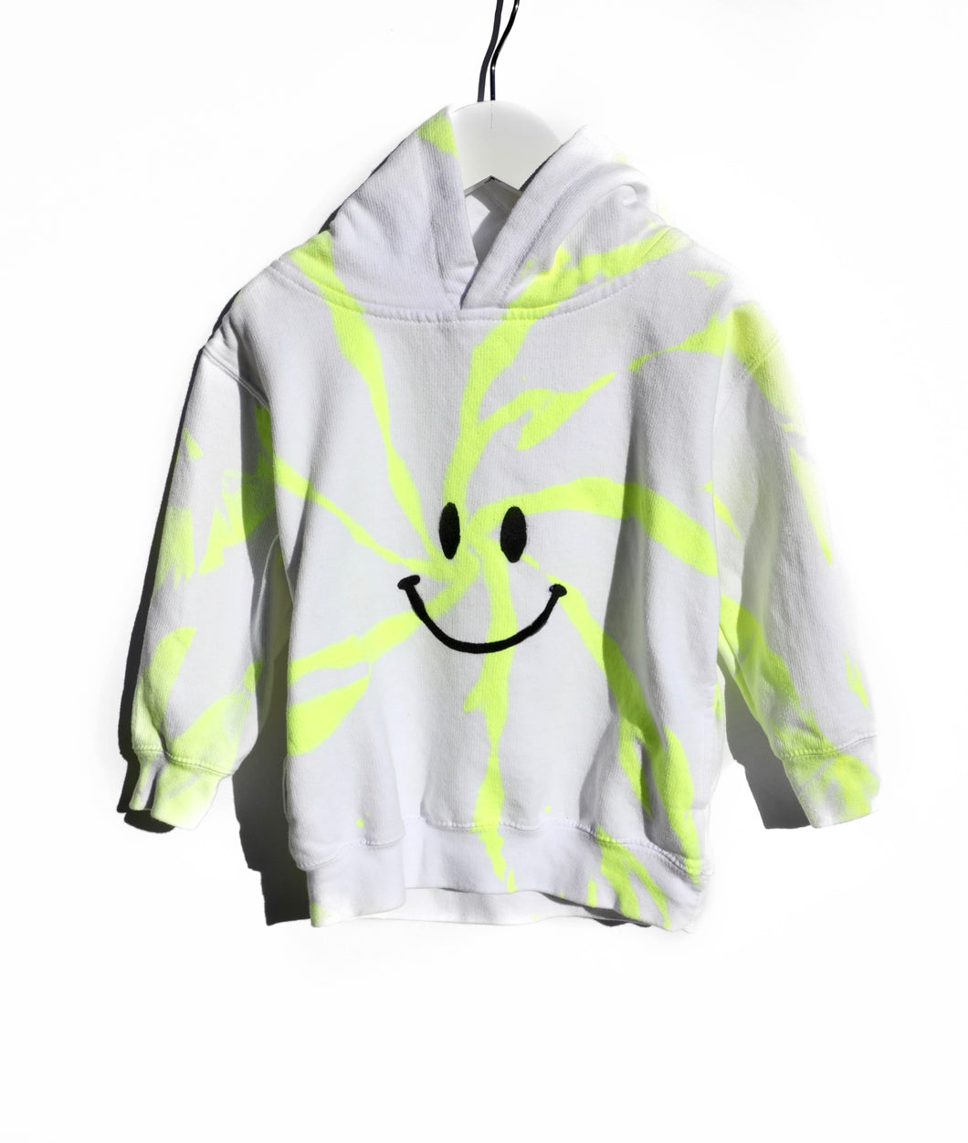 Youth Pocket Hoodie / Neon Happy Face