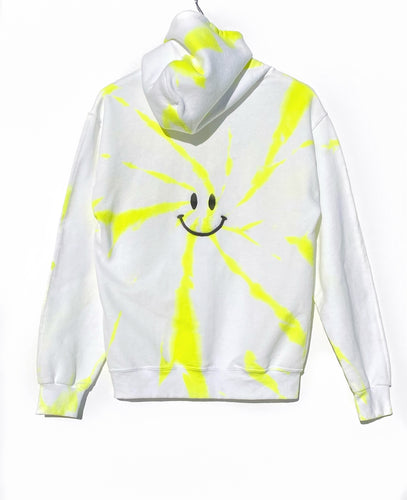Pocket Hoodie / Neon Happy Face