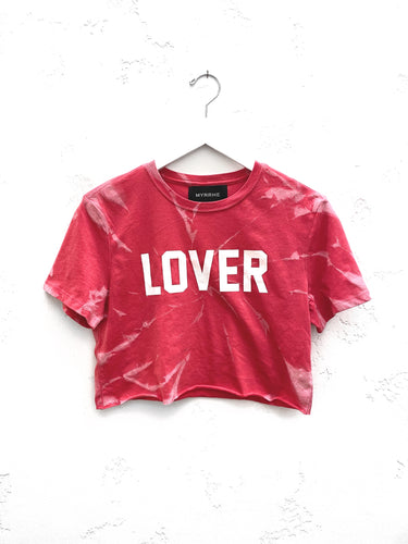 Lover Cropped T-Shirt / Vintage Red