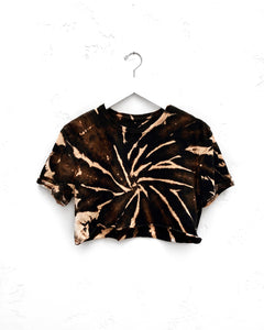 Cropped T-Shirt / Black & Tan
