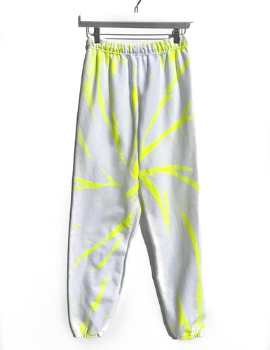 Tie-Dyed Joggers / Neon Yellow