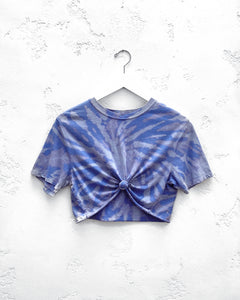 Cropped T-Shirt / Blue Violet