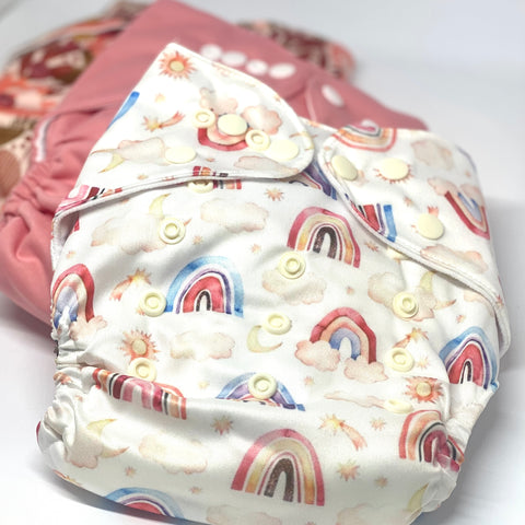 Rainbow Dreaming Cloth Nappy