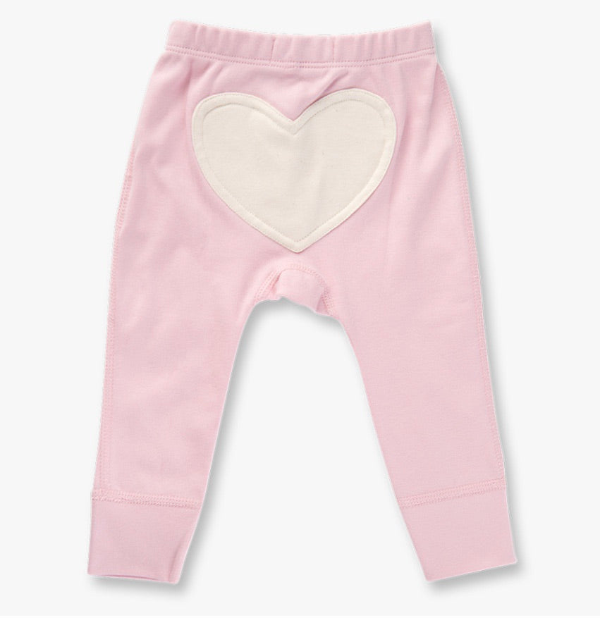 Dusty pink heart pants
