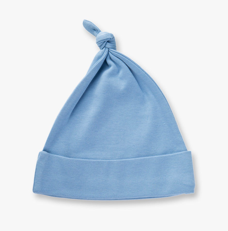 Little boy blue knotted hat
