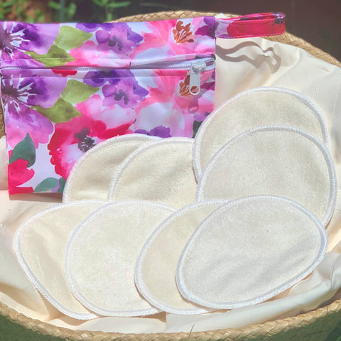 Bamboo Reusable Breast Pads 4pairs