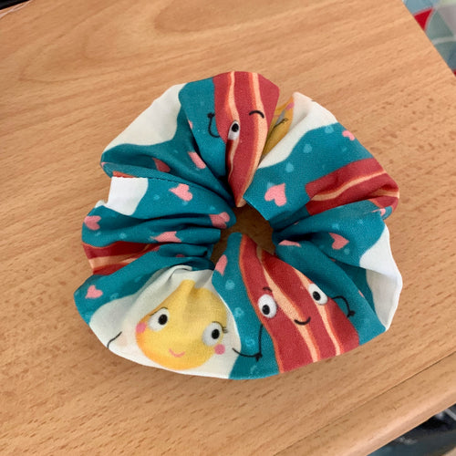 Bacon & Eggs Scrunchie