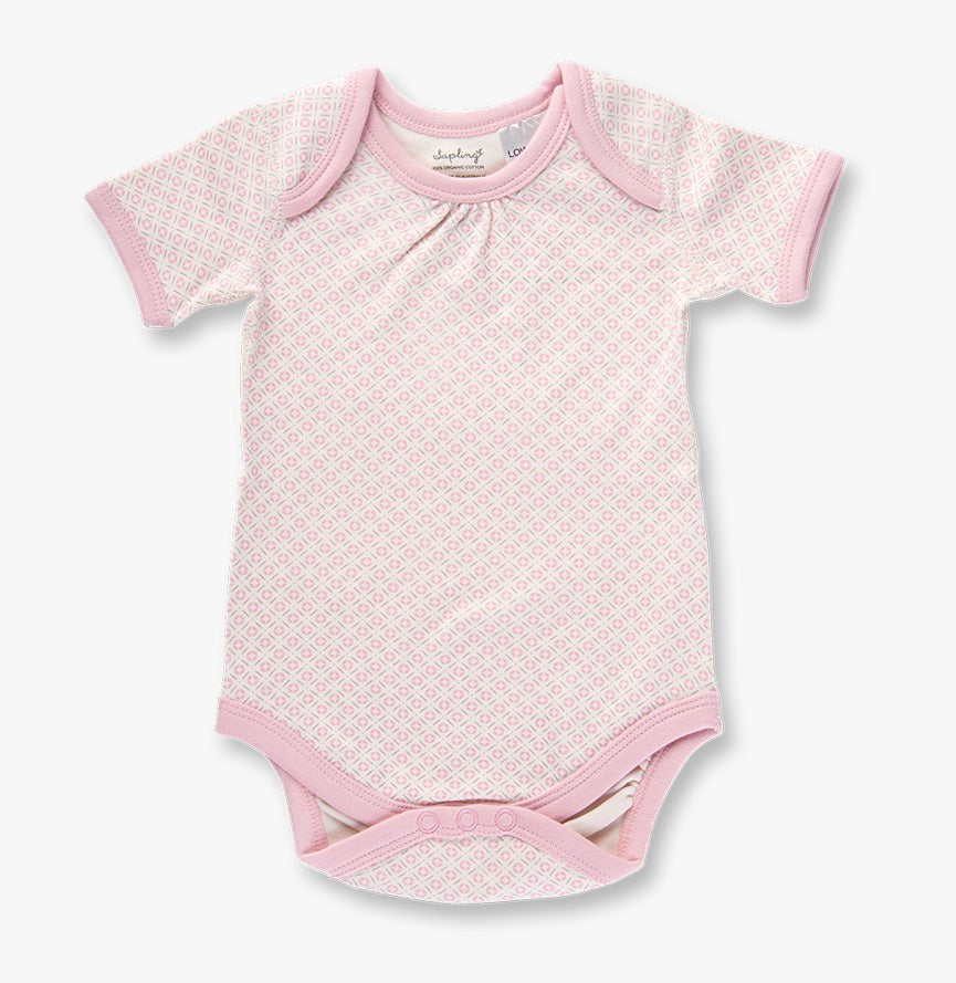Dusty pink short sleeve bodysuit