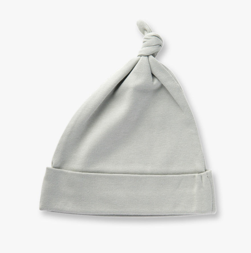Dove grey knotted hat