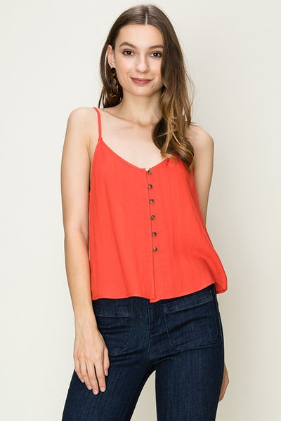 Button Cami Red RESTOCK