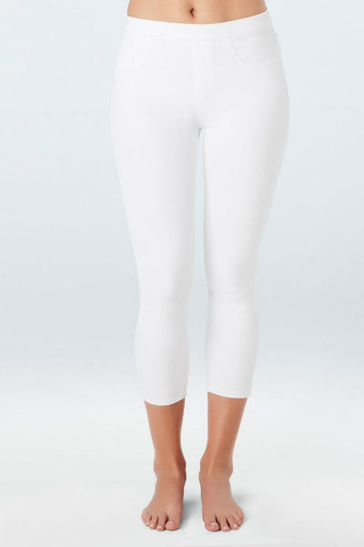 Spanx Jeanish Cropped Legging White