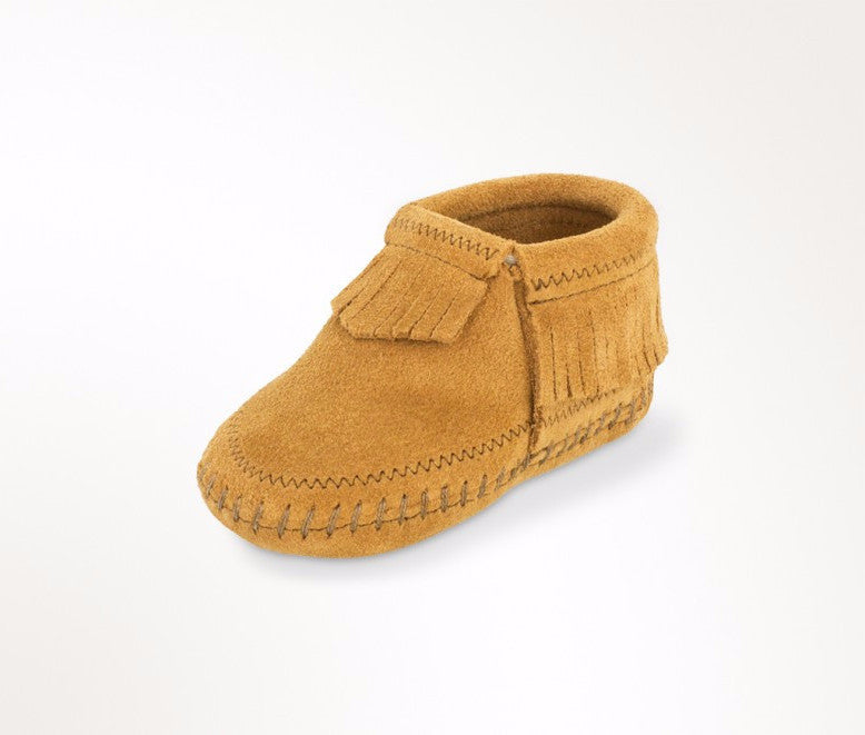 "Kids Minnetonka 1167 Infant ""Riley"" Bootie Taupe"