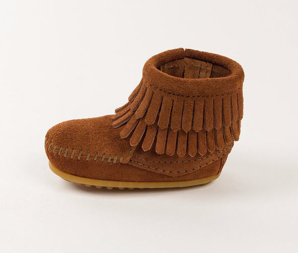 Kids' Double-Fringe Zip Bootie
