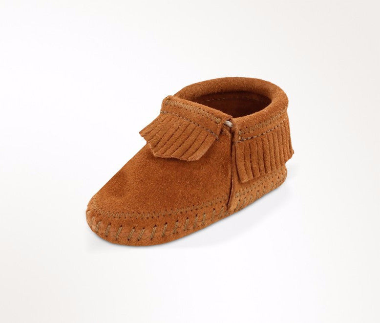 "Kids Minnetonka 1162 Infant ""Riley"" Bootie Brown"
