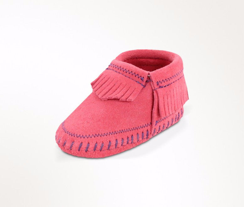 "Kids Minnetonka 1160 Infant ""Riley"" Bootie Pink"