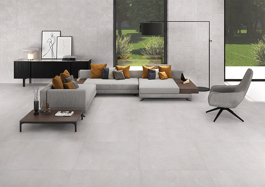 Bodenfliese Mantua Taupe Natural 90x90 cm