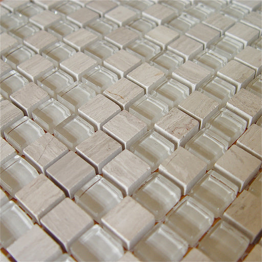 Mosaikfliese Chill white